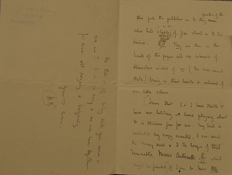 Dyddgu Hamilton Hilaire Belloc letter