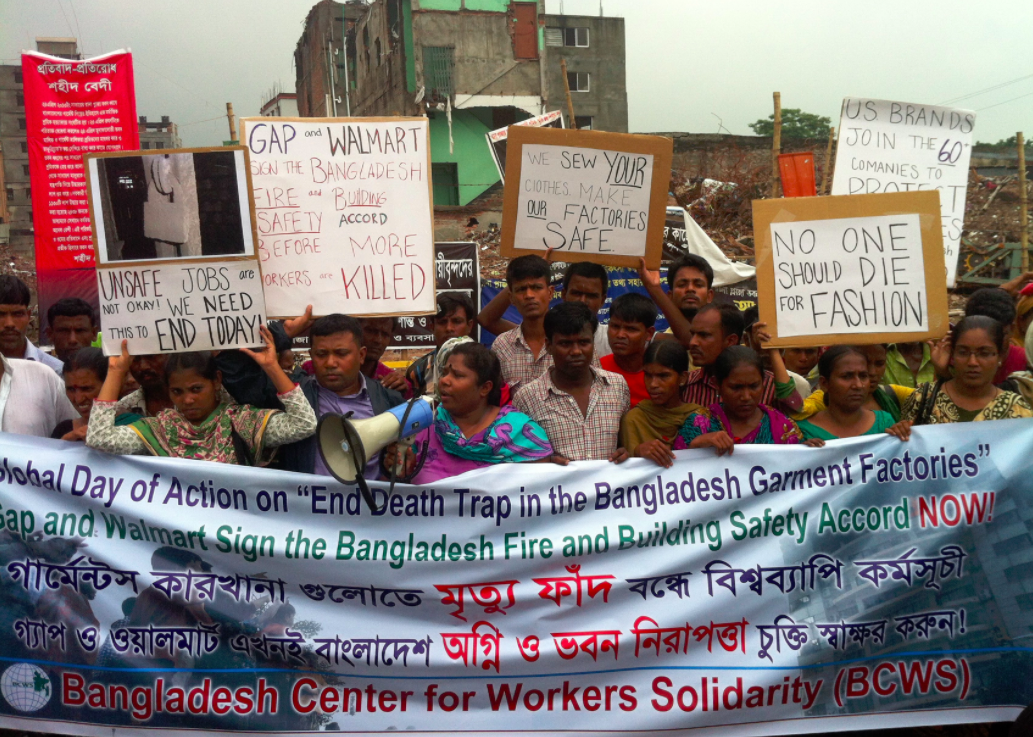 Tens of thousands of workers rallied on the one-year anniversary of the Rana Plaza disaster