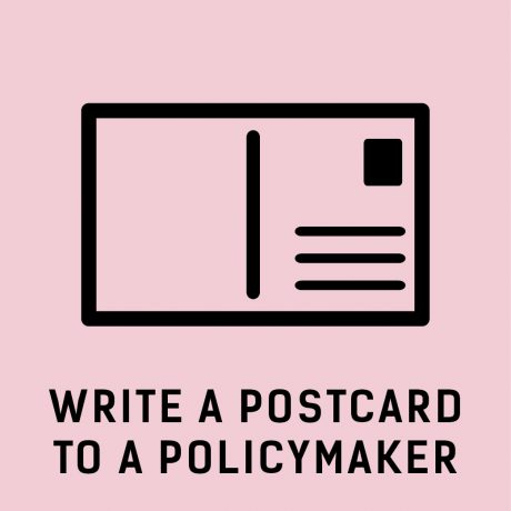 Write a postcard to a policymaker