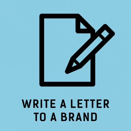 Write a letter to a brand