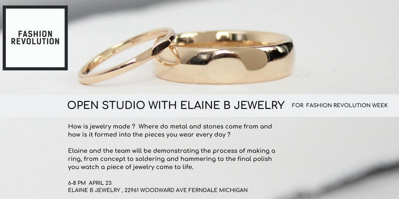Open Studio with Elaine B Jewelry for Fashion Revolution Week