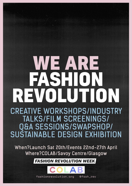 Fashion Revolution x COLAB Glasgow
