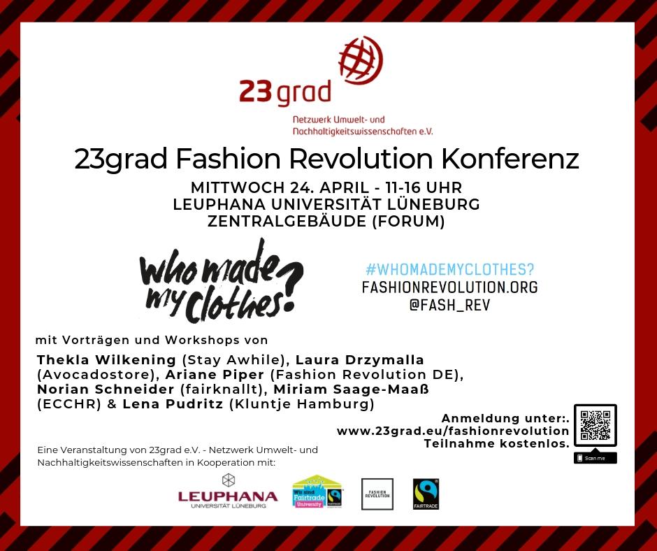 Fashion Revolution Konferenz Lüneburg