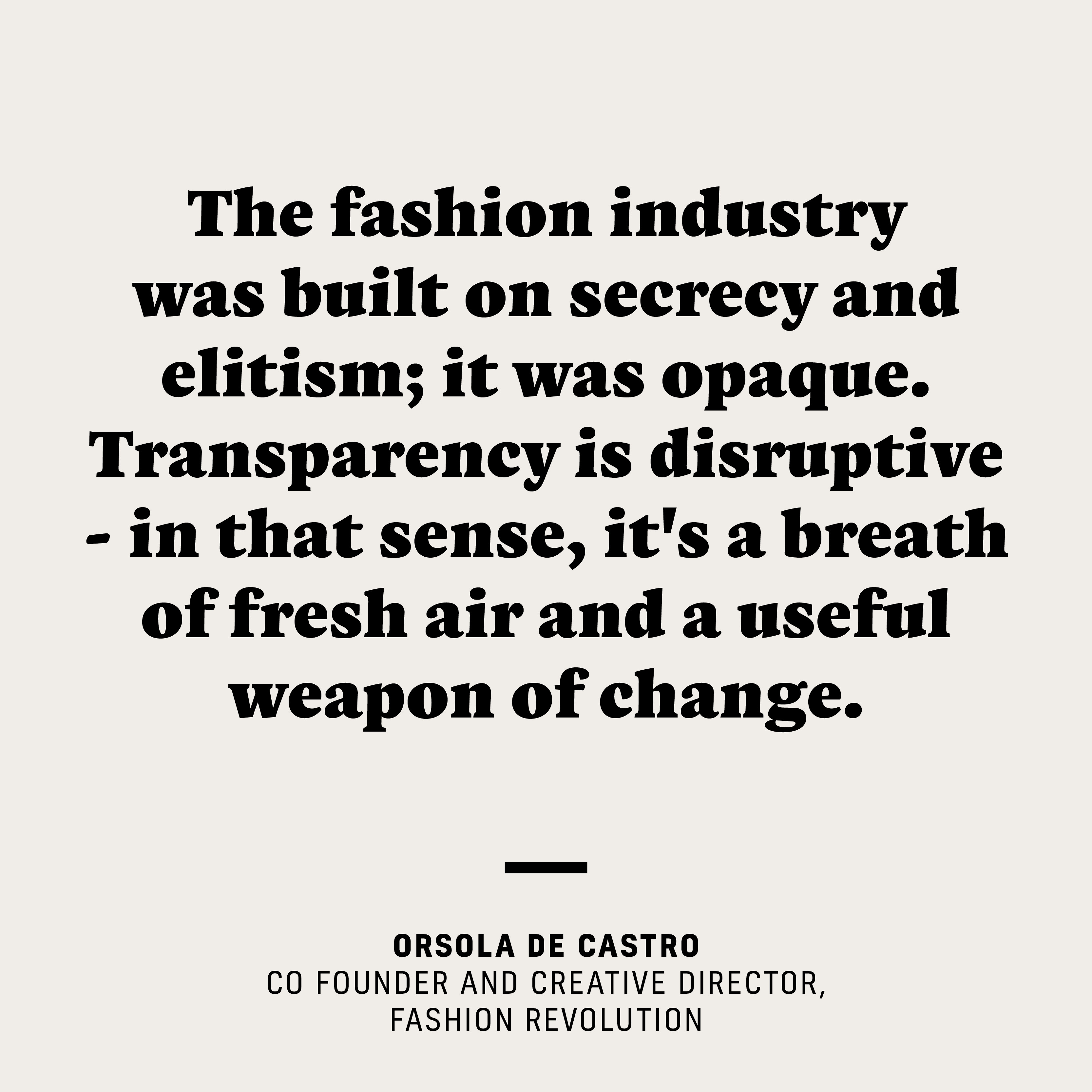WHY TRANSPARENCY MATTERS - Fashion Revolution : Fashion Revolution