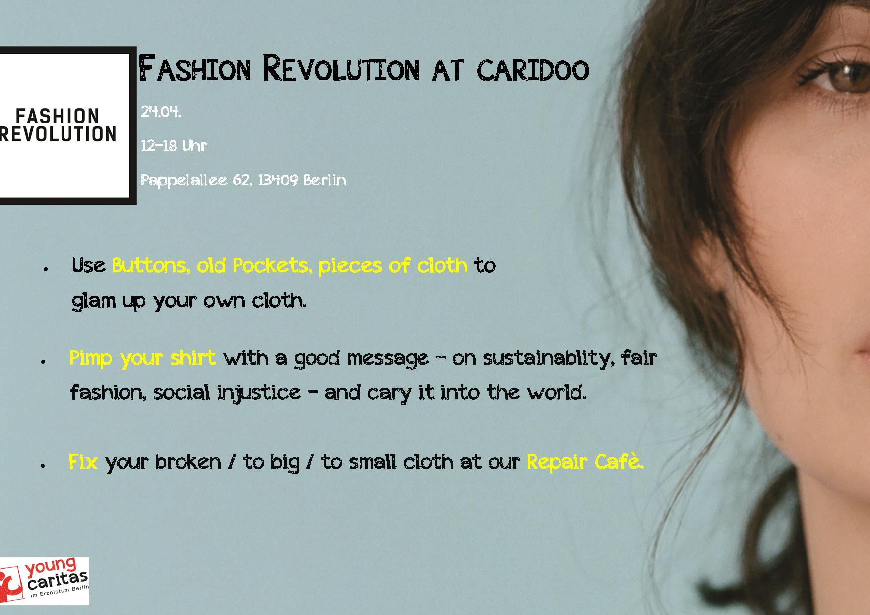 Fashion Revolution Day at caridoo