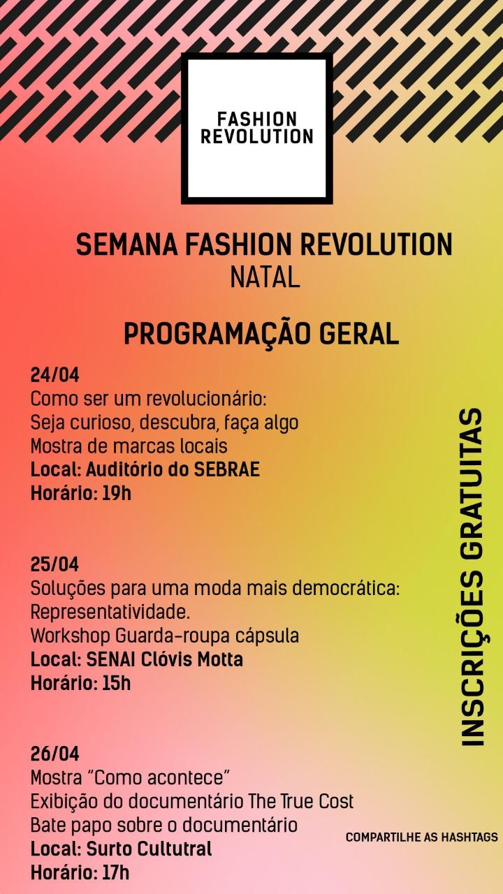 Semana Fashion Revolution Natal RN