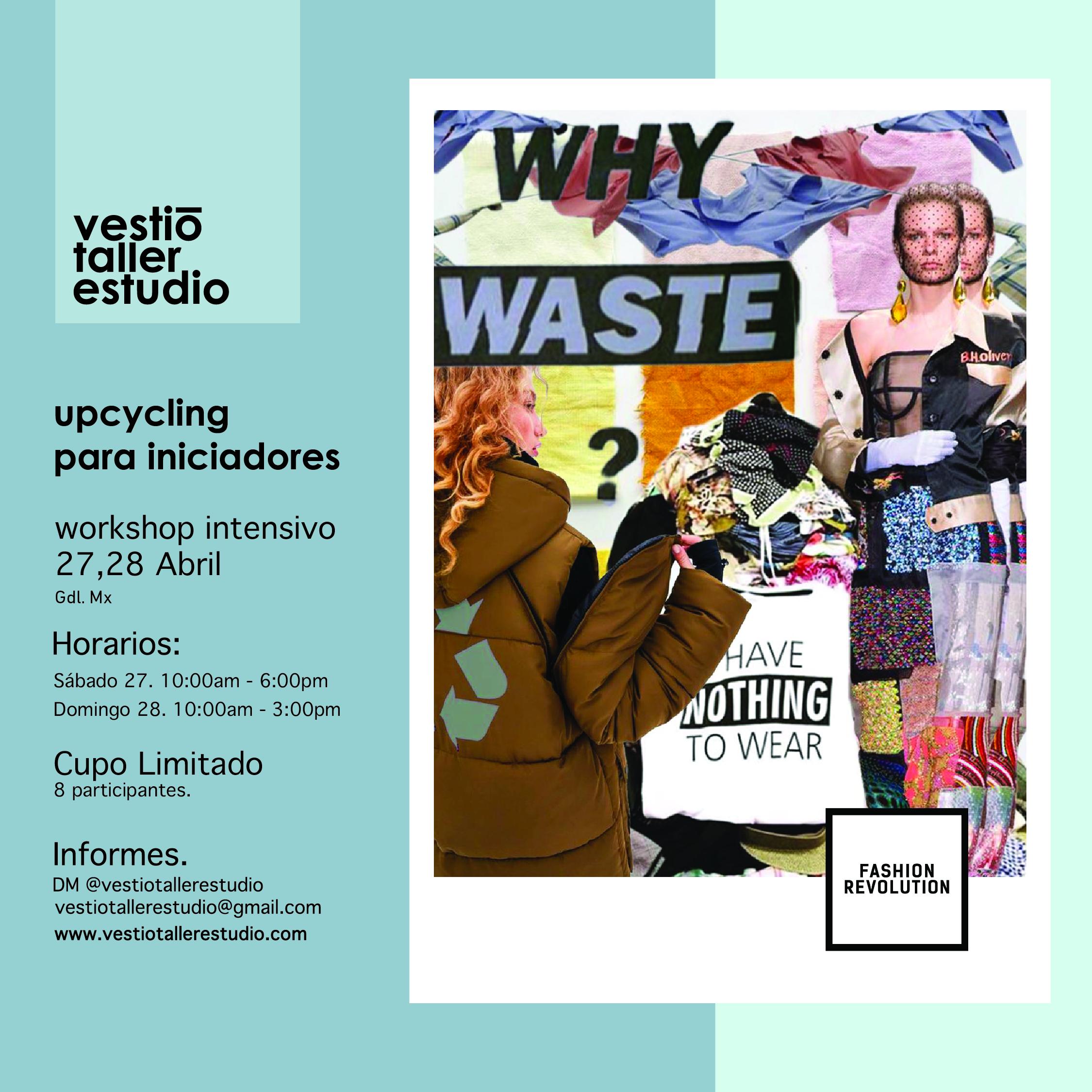 workshop intensivo upcycling para iniciadores