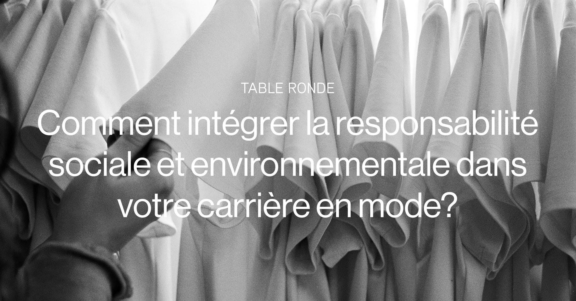 Table Ronde sur la mode éthique