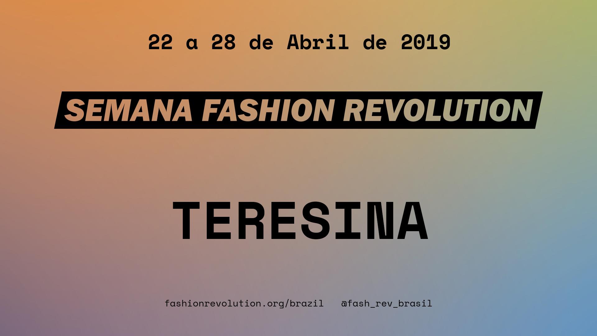 Semana Fashion Revolution Teresina 2019