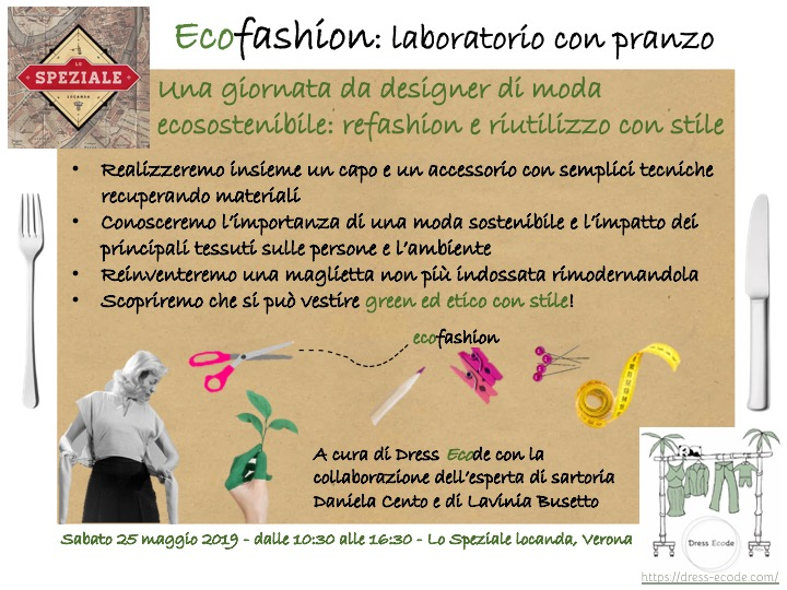 Ecofashion: refashion and upcycling workshop with lunch (and style!)