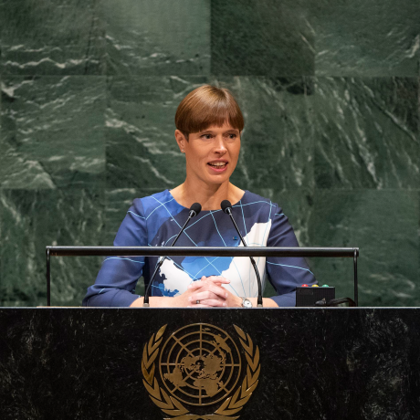 President Kaljulaid draws attention to Climate Crisis at the UN