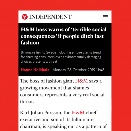 OPINION: An Open Letter to Karl-Johan Persson, CEO of H&M